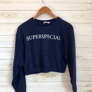 ZARA Trafaluc Super Special Cropped Sweatshirt